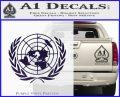 United Nations Crest Logo Emblem D1 Decal Sticker PurpleEmblem Logo 120x97