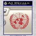 United Nations Crest Logo Emblem D1 Decal Sticker Red 120x120