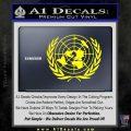 United Nations Crest Logo Emblem D1 Decal Sticker Yellow Laptop 120x120
