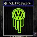 VW Drip Volkswagen Blood D2 Decal Sticker Lime Green Vinyl 120x120