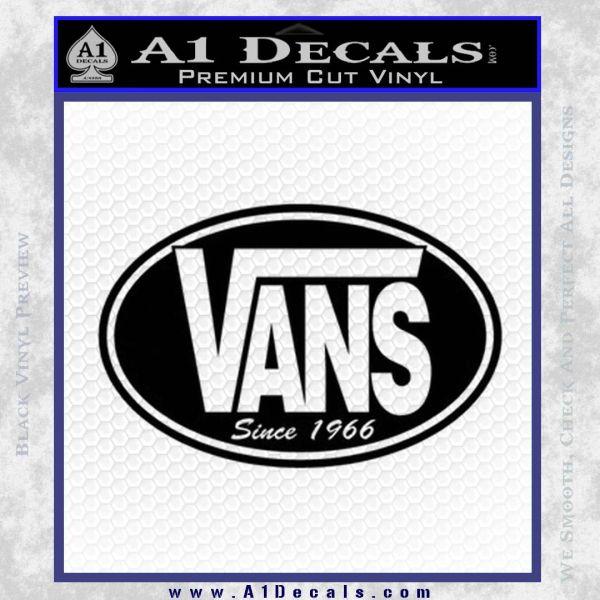 Vans Decal Sticker Oval 187 A1 Decals