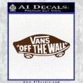 Vans Off The Wall Skate Decal Sticker BROWN Vinyl 120x120