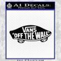 Vans Off The Wall Skate Decal Sticker Black Vinyl 120x120