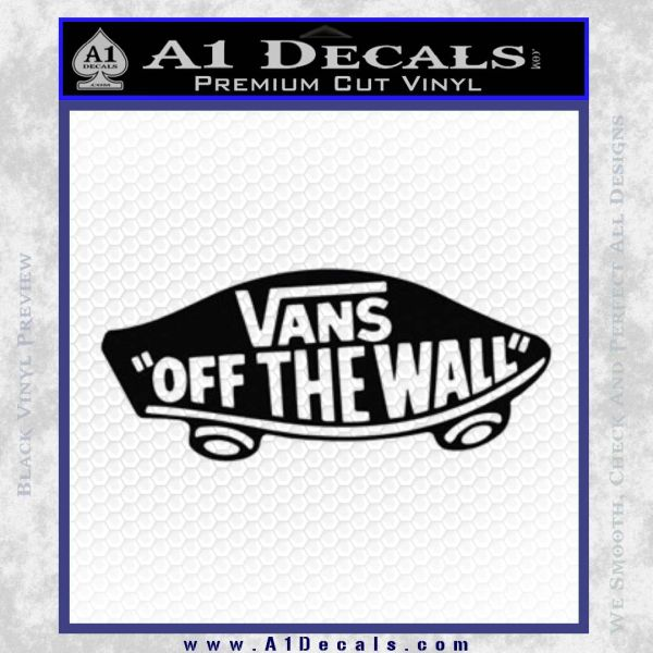 Vans Off The Wall Skate Decal Sticker Black Vinyl