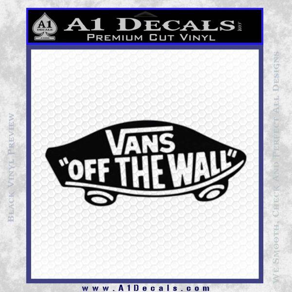 Vans Off The Wall Skate Decal Sticker Black Vinyl Part 71