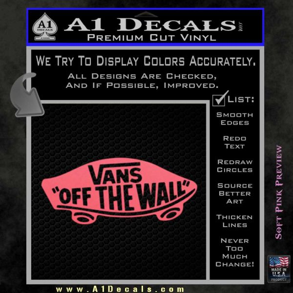 Vans Off The Wall Skate Decal Sticker 187 A1 Decals