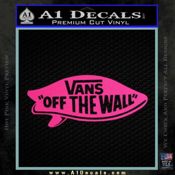 Vans Off The Wall Sticker White