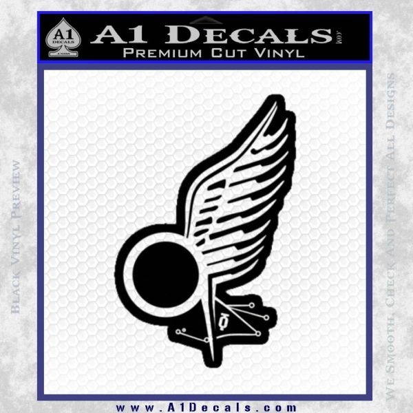 Viper Pilot Wing Caprica Decal Sticker Battlestar Galactica BSG Black Vinyl