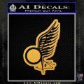 Viper Pilot Wing Caprica Decal Sticker Battlestar Galactica BSG Gold Vinyl 120x120