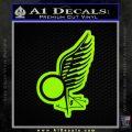 Viper Pilot Wing Caprica Decal Sticker Battlestar Galactica BSG Lime Green Vinyl 120x120
