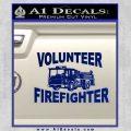 Volunteer Fire Fighter Decal Sticker Blue Vinyl 120x120