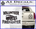 Volunteer Fire Fighter Decal Sticker Carbon FIber Black Vinyl 120x97