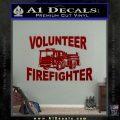 Volunteer Fire Fighter Decal Sticker DRD Vinyl 120x120