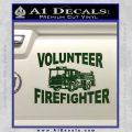 Volunteer Fire Fighter Decal Sticker Dark Green Vinyl 120x120