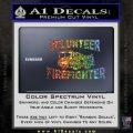Volunteer Fire Fighter Decal Sticker Glitter Sparkle 120x120