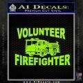 Volunteer Fire Fighter Decal Sticker Lime Green Vinyl 120x120