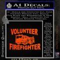 Volunteer Fire Fighter Decal Sticker Orange Emblem 120x120