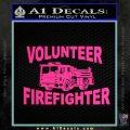 Volunteer Fire Fighter Decal Sticker Pink Hot Vinyl 120x120