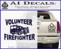 Volunteer Fire Fighter Decal Sticker PurpleEmblem Logo 120x97