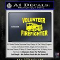 Volunteer Fire Fighter Decal Sticker Yellow Laptop 120x120