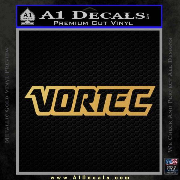 Vortec Decal Sticker Gold Vinyl