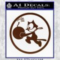 WWII Ace Butch OHares Hellcat Decal Sticker BROWN Vinyl 120x120
