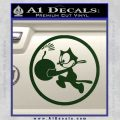WWII Ace Butch OHares Hellcat Decal Sticker Dark Green Vinyl 120x120