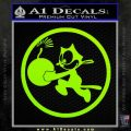 WWII Ace Butch OHares Hellcat Decal Sticker Lime Green Vinyl 120x120
