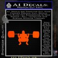 Weightlifting Silhouette Decal Sticker Orange Emblem 120x120