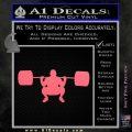 Weightlifting Silhouette Decal Sticker Pink Emblem 120x120