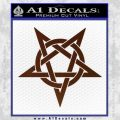 Wicca Pentacle Decal Sticker Pentagram BROWN Vinyl 120x120