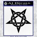 Wicca Pentacle Decal Sticker Pentagram Black Vinyl 120x120