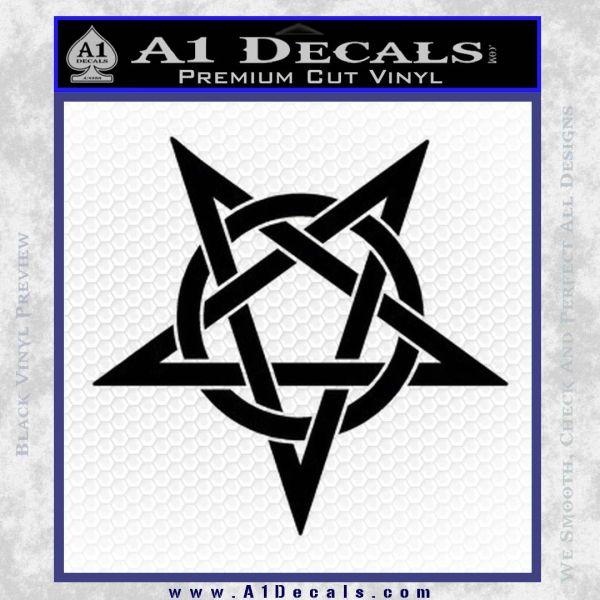 Wicca Pentacle Decal Sticker Pentagram Black Vinyl