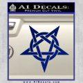 Wicca Pentacle Decal Sticker Pentagram Blue Vinyl 120x120