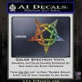 Wicca Pentacle Decal Sticker Pentagram Glitter Sparkle 120x120