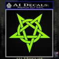 Wicca Pentacle Decal Sticker Pentagram Lime Green Vinyl 120x120