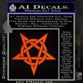Wicca Pentacle Decal Sticker Pentagram Orange Emblem 120x120