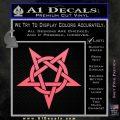 Wicca Pentacle Decal Sticker Pentagram Pink Emblem 120x120