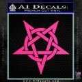 Wicca Pentacle Decal Sticker Pentagram Pink Hot Vinyl 120x120