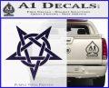 Wicca Pentacle Decal Sticker Pentagram PurpleEmblem Logo 120x97