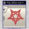 Wicca Pentacle Decal Sticker Pentagram Red 120x120