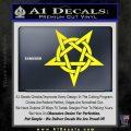 Wicca Pentacle Decal Sticker Pentagram Yellow Laptop 120x120