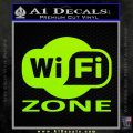 Wifi Zone Decal Sticker Lime Green Vinyl 120x120