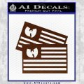 Wu Tang Flag Decal Sticker Wunited States Of America BROWN Vinyl 120x120