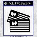 Wu Tang Flag Decal Sticker Wunited States Of America Black Vinyl 120x120
