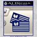 Wu Tang Flag Decal Sticker Wunited States Of America Blue Vinyl 120x120