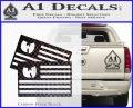 Wu Tang Flag Decal Sticker Wunited States Of America Carbon FIber Black Vinyl 120x97