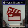 Wu Tang Flag Decal Sticker Wunited States Of America DRD Vinyl 120x120