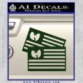 Wu Tang Flag Decal Sticker Wunited States Of America Dark Green Vinyl 120x120