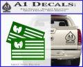 Wu Tang Flag Decal Sticker Wunited States Of America Green Vinyl Logo 120x97